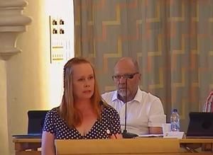 Ylva Pettersson vid måndagens budgetdebatt