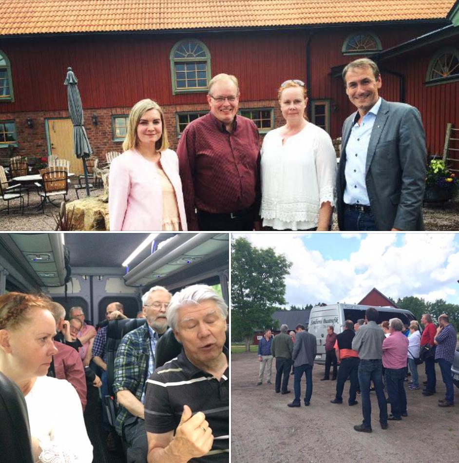 Oppositionsrådet Ylva Pettersson, vice gruppledare Emma Ophus, riksdagsman Sten Bergheden och Naturvårdsverkets generaldirektör Björn Risinger deltog i fredagens studiebesök vid Hornborgasjön.