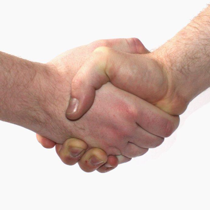 En utsträckt hand är viktig, men hjälpen ska ges på rätt sätt!  (foto: Tobias Wolter)
